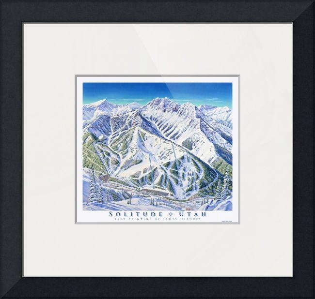Solitude Utah Map.Solitude Utah By James Niehues In 2018 Ski Art Pinterest Art