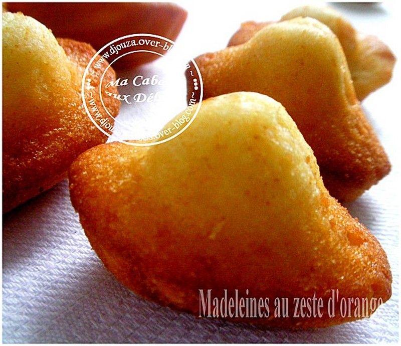 La Cuisine De Djouza: Madeleine Moelleuse A L'orange