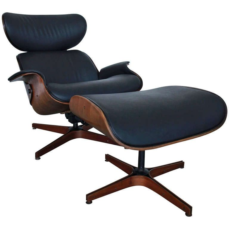 Mr chair by mulhauser for plycraft black lounge