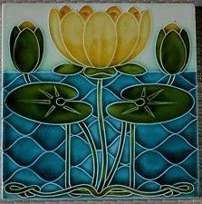 Antique Pilkington S England Art Nouveau Majolica Tile C1900 Art Deco Tiles Art Nouveau Tiles Art Nouveau