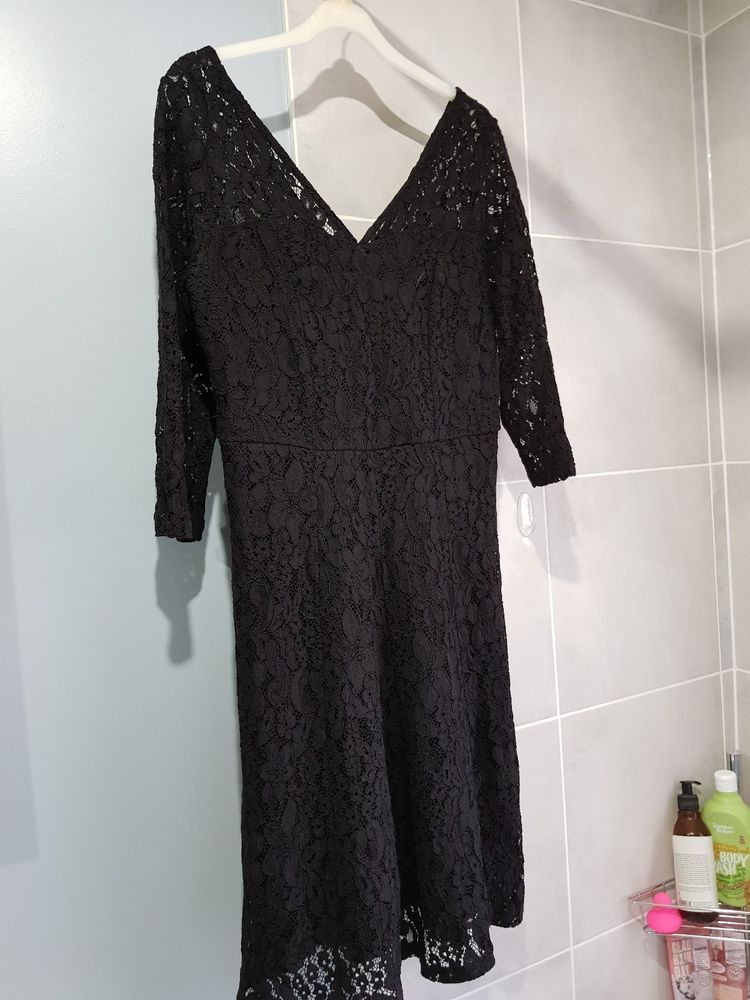 e105008a713 Ladies black lace dress size 14  fashion  clothing  shoes  accessories   womensclothing  dresses (ebay link)
