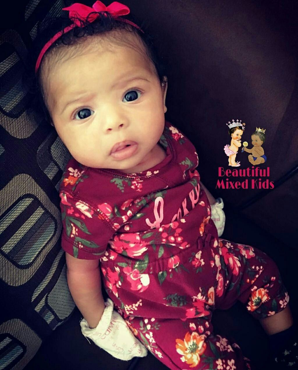 Kyndell 2 months • african american caucasian mexican ❤ cute little baby