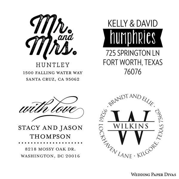 Custom Self Inking Rubber Stamp Return Address Wedding Invitations Back Envelope Flap