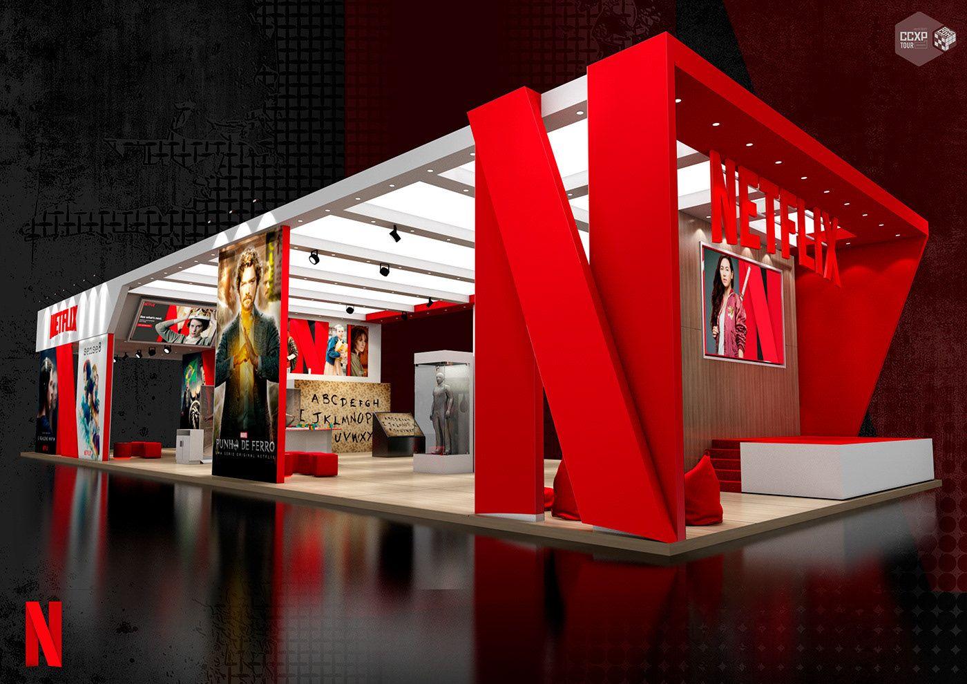 Bekijk Dit Behance Project Netflix Ccxp Tour 2017 Https Www Behance Net Gallery 720796 Trade Show Booth Design Exibition Design Exhibition Booth Design