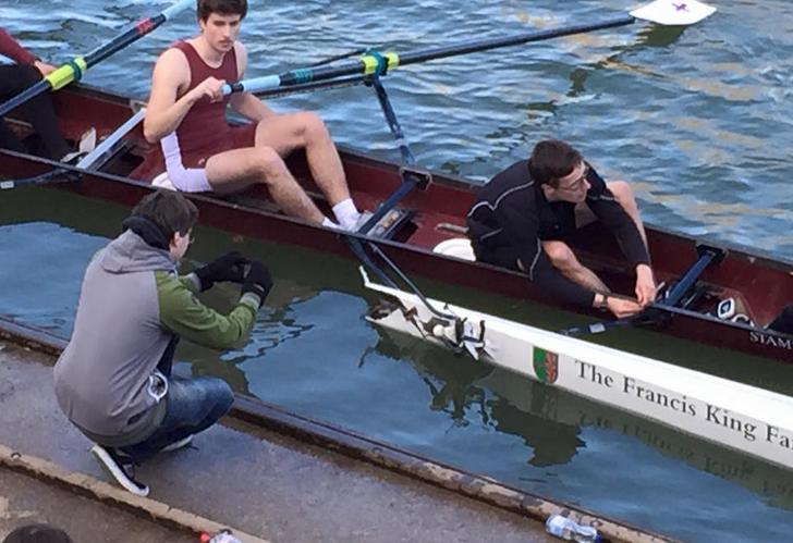 Rowing boat crash at Stampfli vs Janousek