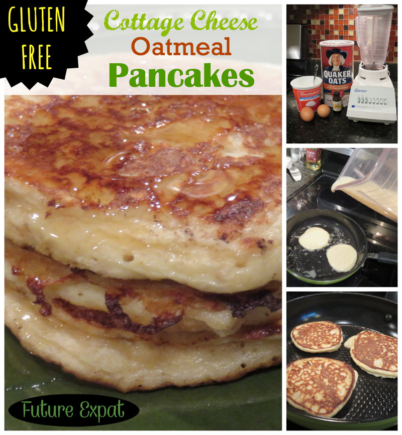 Beautiful Recipe: Cottage Cheese Oatmeal Pancakes   Future Expat U003c   Love The Added  Protein In These By Using Cottage Cheese! (Canned Pumpkin Pancake)