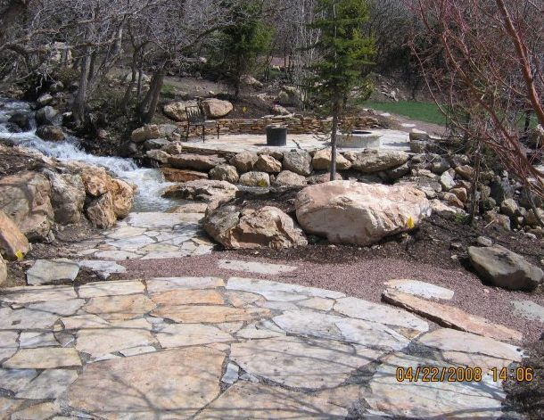 how to build a flagstone walkway on a hill