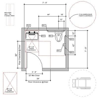 Download Pre Built Revit Accessible Toilet Room Sample Model
