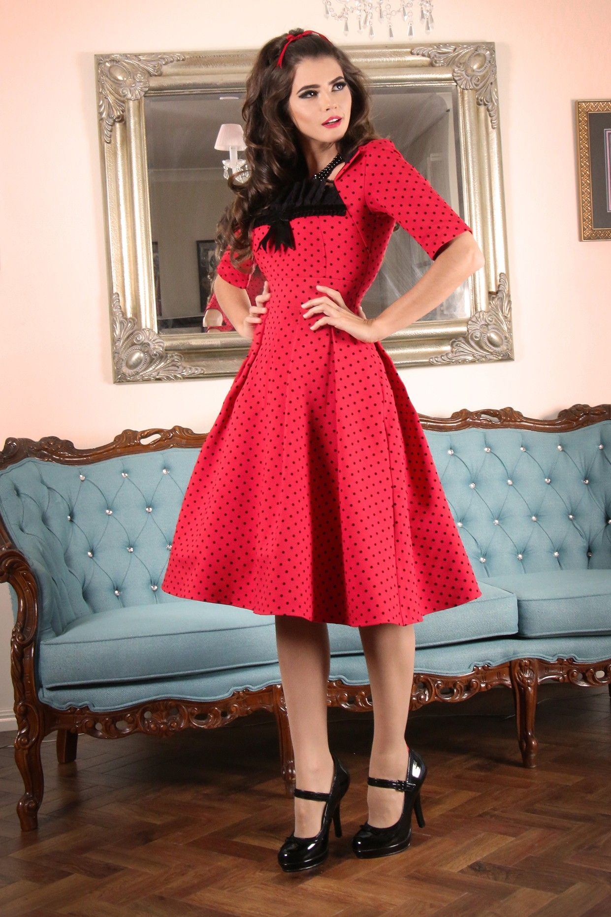 Kitten D Amour Fever Dress New Vintage Pinup Rockabilly Buy Recent Collections Http Www Kittendamour Com Br Fever Dress Pretty Dresses Vintage Dresses