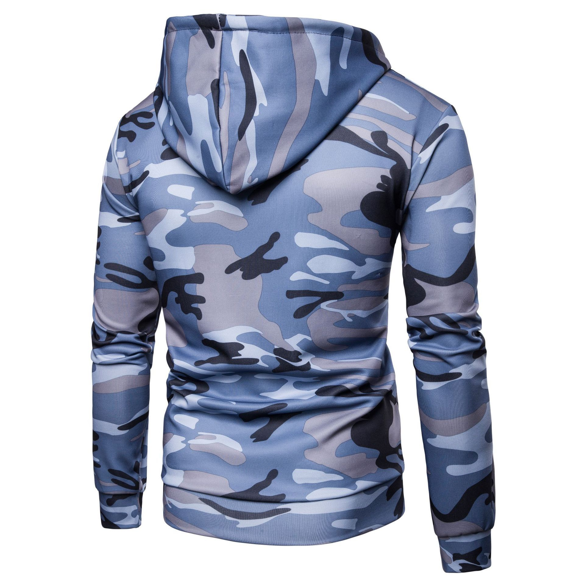 Men Camouflage Coat Spring Autumn Thin Slim Long Sleeve