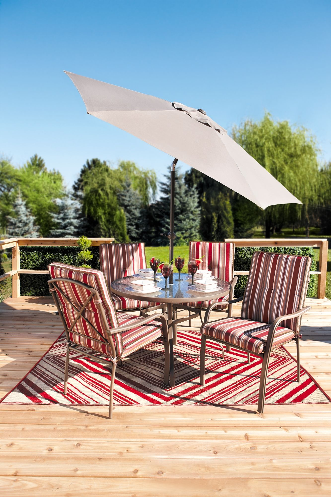 kitchen chair cushions canadian tire single weather twitter bahamas 6 piece cushion patio set decked out