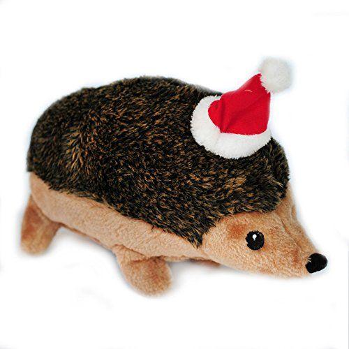 Zippypaws Holiday Hedgehog Squeaky Plush Dog Toy Xlarge Click