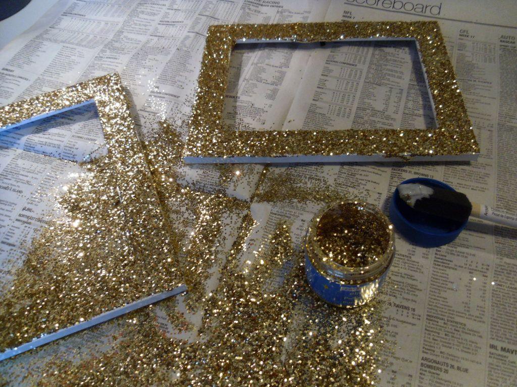 My Fave Diy Glitter Frames Diy Picture Frames Glitter Diy