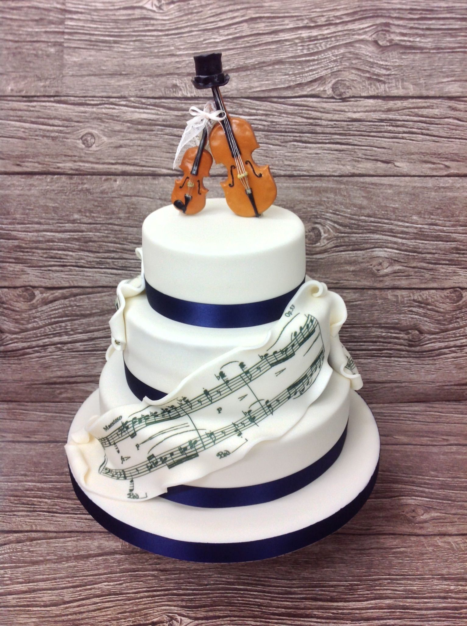 Music Themed Wedding Cake From The Cake Store London Wedding