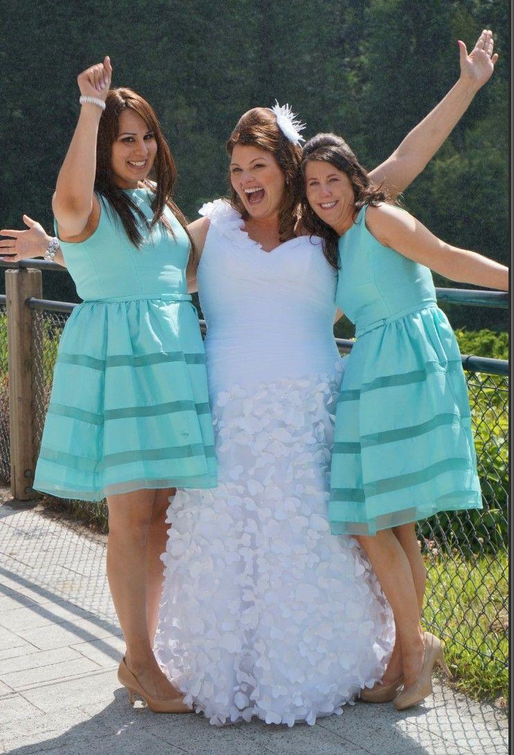Bridesmaid dresses from Nordstrom, Bellevue Square. Aqua, Tiffany ...