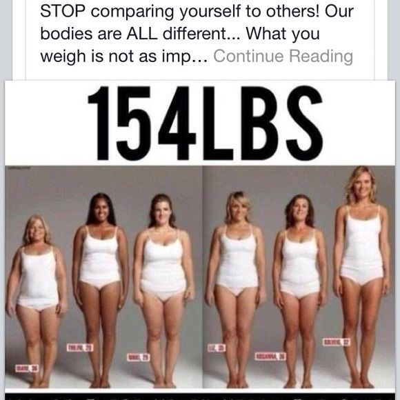 ALL OF THESE WOMEN ARE 154 LBS Ladies be the best HEALTHY YOU that you can be  Beauty comes in all shapes and size  Give yourself a big big HUG  LOVE The body your in  Change it IF YOU want but LOVE IT NOW Sisterhood Other is part of Fat vs muscle -