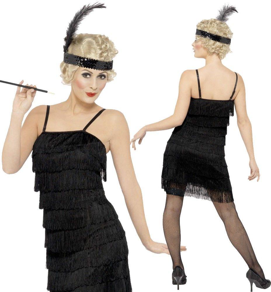 Details Zu Charleston Kleid Schwarz Spitzen Coco Flapper 1920 20er