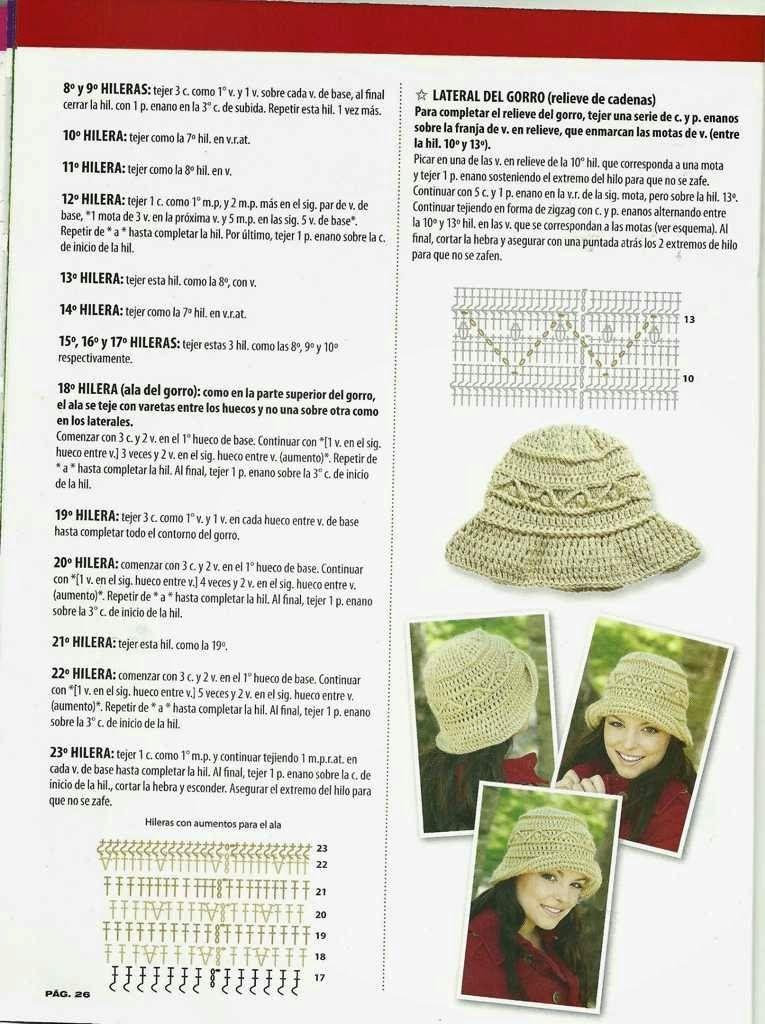 520 Gorro a Crochet o Ganchillo   Ideje sa interneta   Pinterest