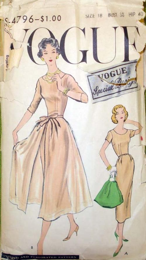 Vogue pattern S-4796 - note the detachable overskirt...