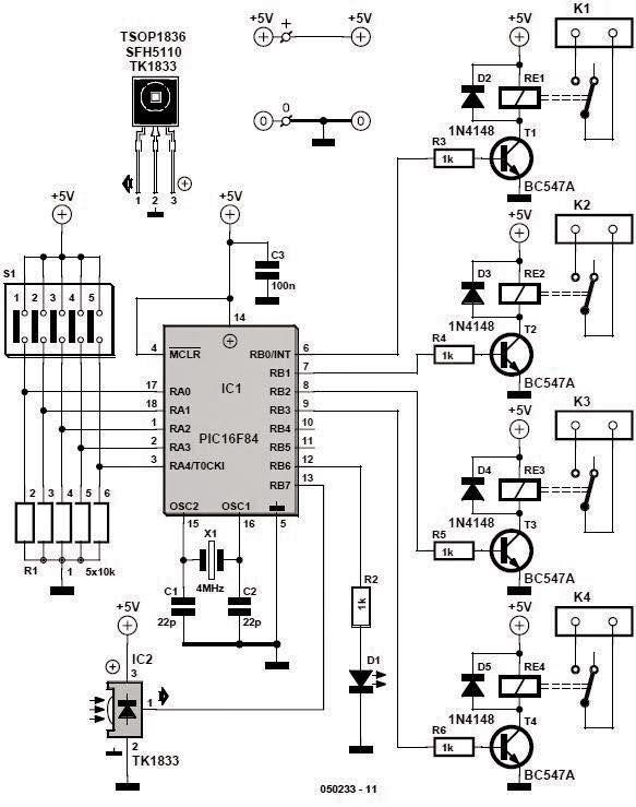 Home # remotecontrol circuit diagram | Free Electronics ...