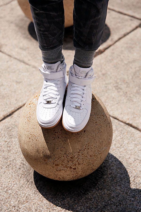d048b1160ce1e Get classic comfort and character in the casual but iconic Nike Air Force 1   07 Mid.