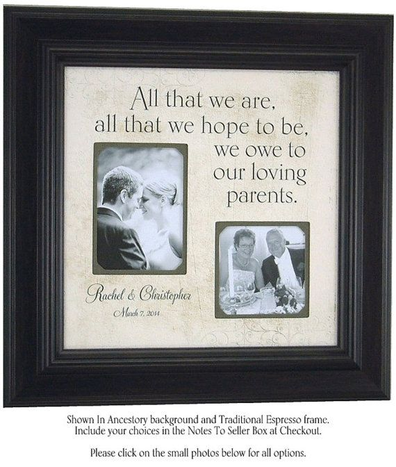 ALL THAT WE Are Custom Wedding Frame For Parents Mother Father Bride ...