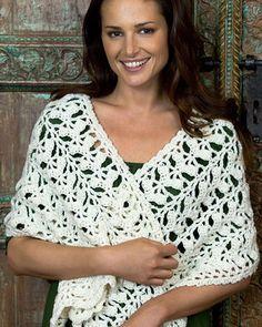 Best Free Crochet » Free Comforting Shawl Crochet Pattern from RedHeart.com