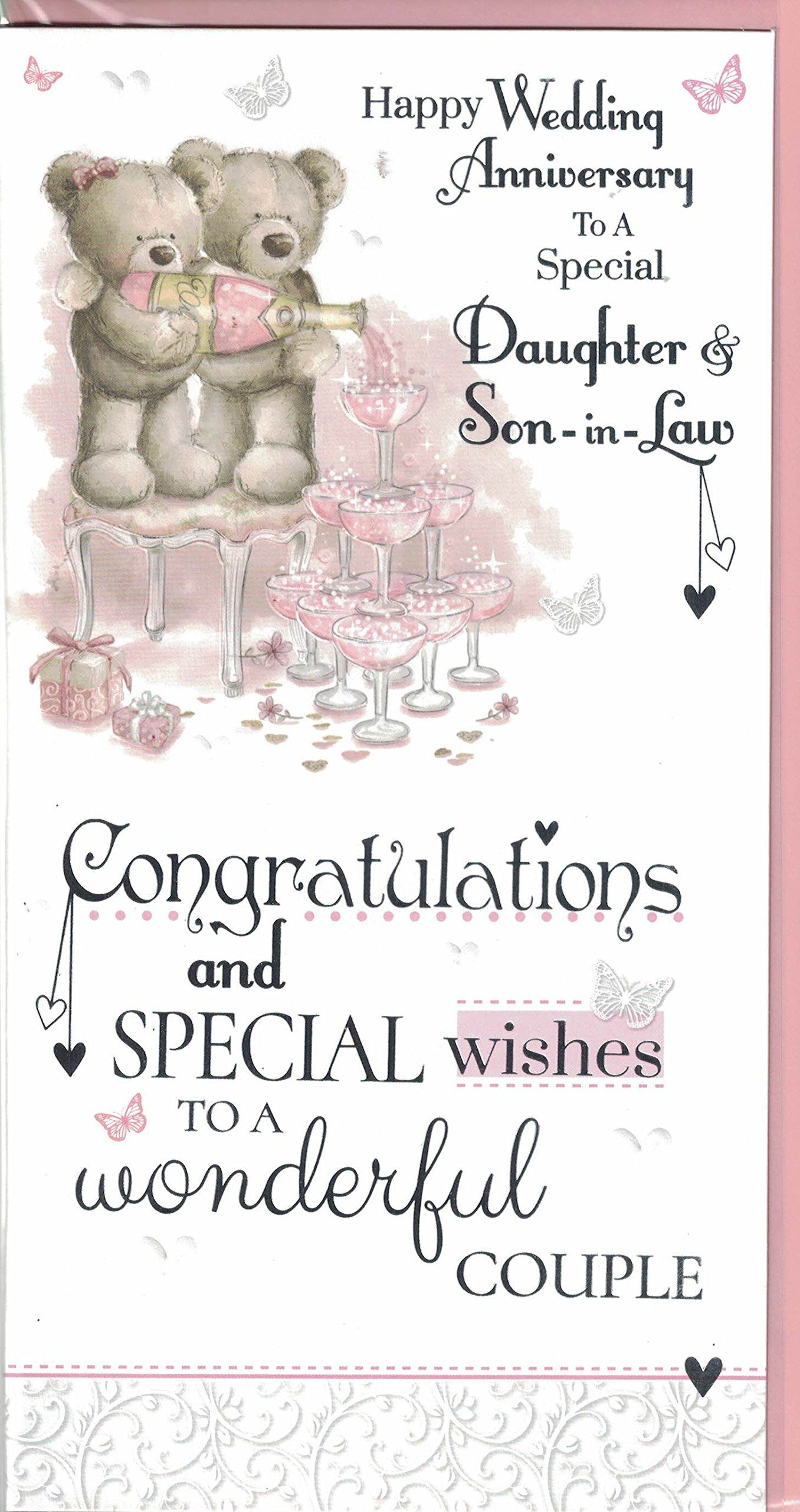 Daughter And Son In Law Anniversary Card To A Special Daughter And Son In Law On Wedding Anniversary Wishes First Wedding Anniversary Happy Anniversary Cards