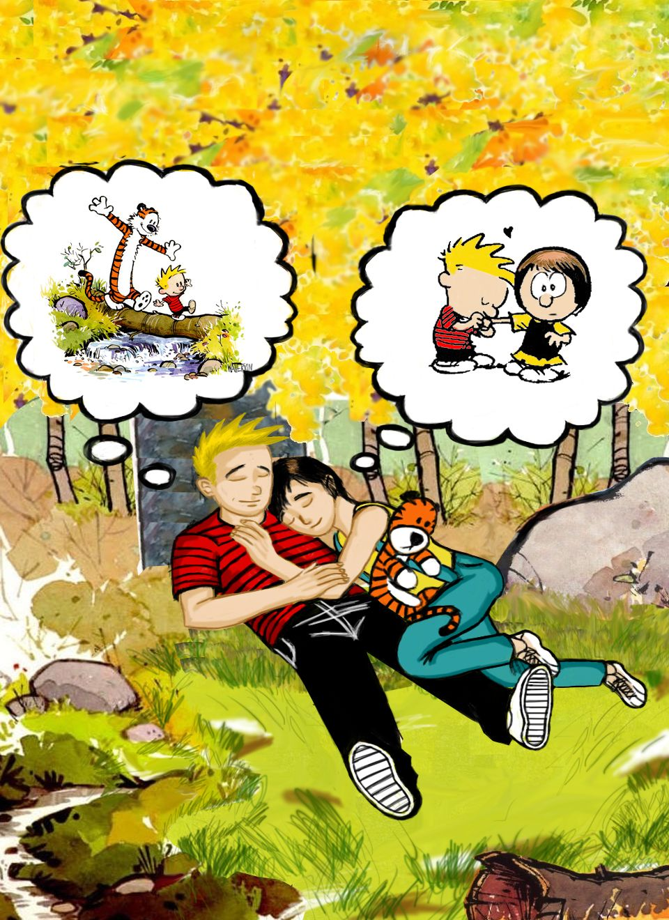Calvin and Susie Grown Up | Calvin and Hobbes grown up by boomcow on ...
