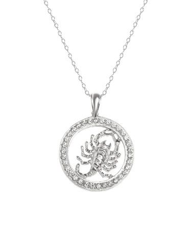 Another great find on #zulily! Cubic Zirconia & Sterling Silver Scorpion Pendant Necklace #zulilyfinds