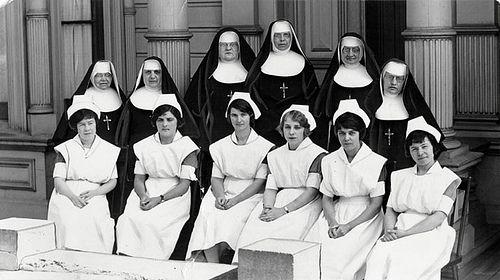 franciscan school nuns   Student Nurses at St. Joseph Hospital Phoenix AZ 1961 by Patricksmercy