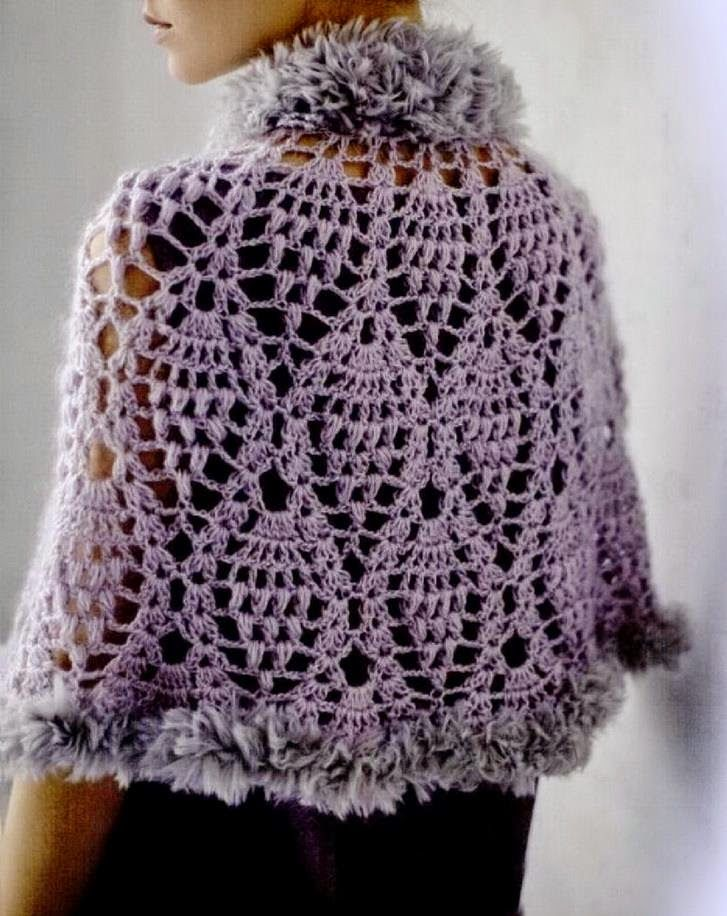Crochet Pattern Of Lace Cape - Gorgeous (Crochet Shawls) Knitting and craft...