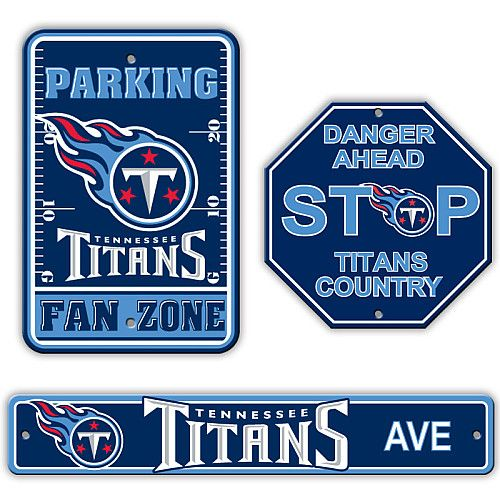 new styles b0172 04471 Fremont Die Tennessee Titans 3 Piece Sign Kit - NFLShop.com ...