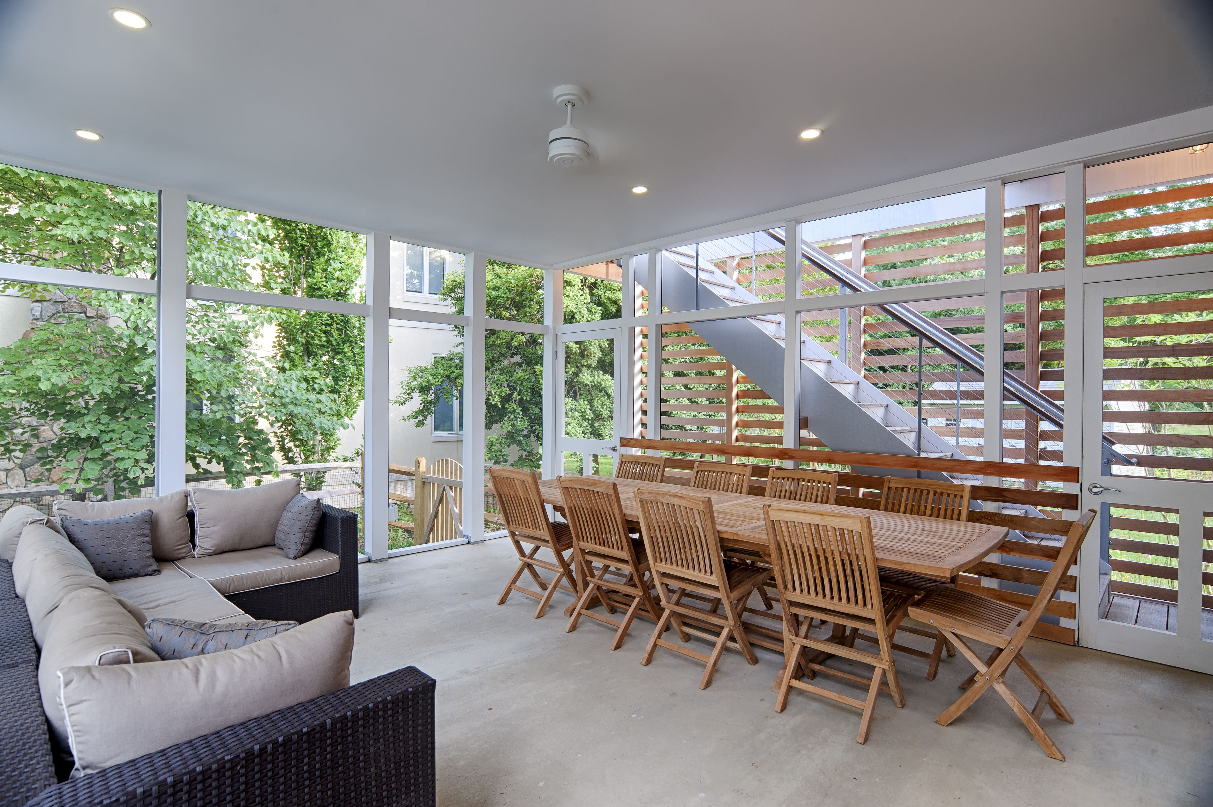 Back exterior of this gorgeous modern home in Annapolis Maryland on
