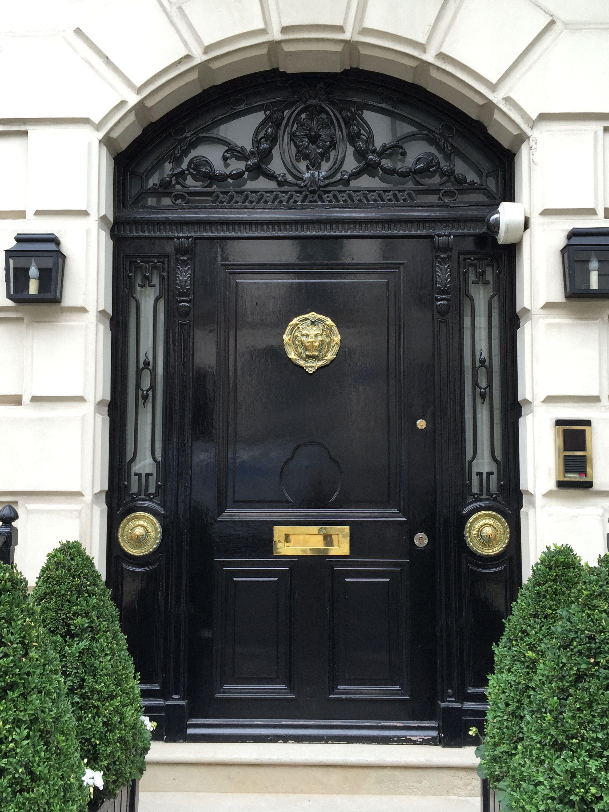 Gorgeous Glossy Black Door London England Photo By Mari