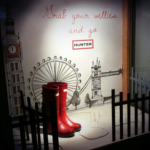 #VisualMerchandising #VMA #HunterBoots #Wellies #London