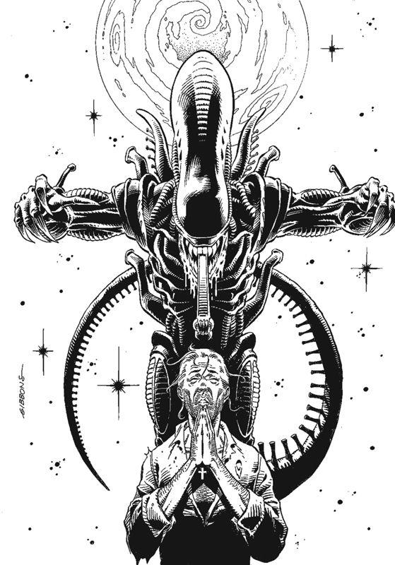 Alien Salvation cover Comic Art