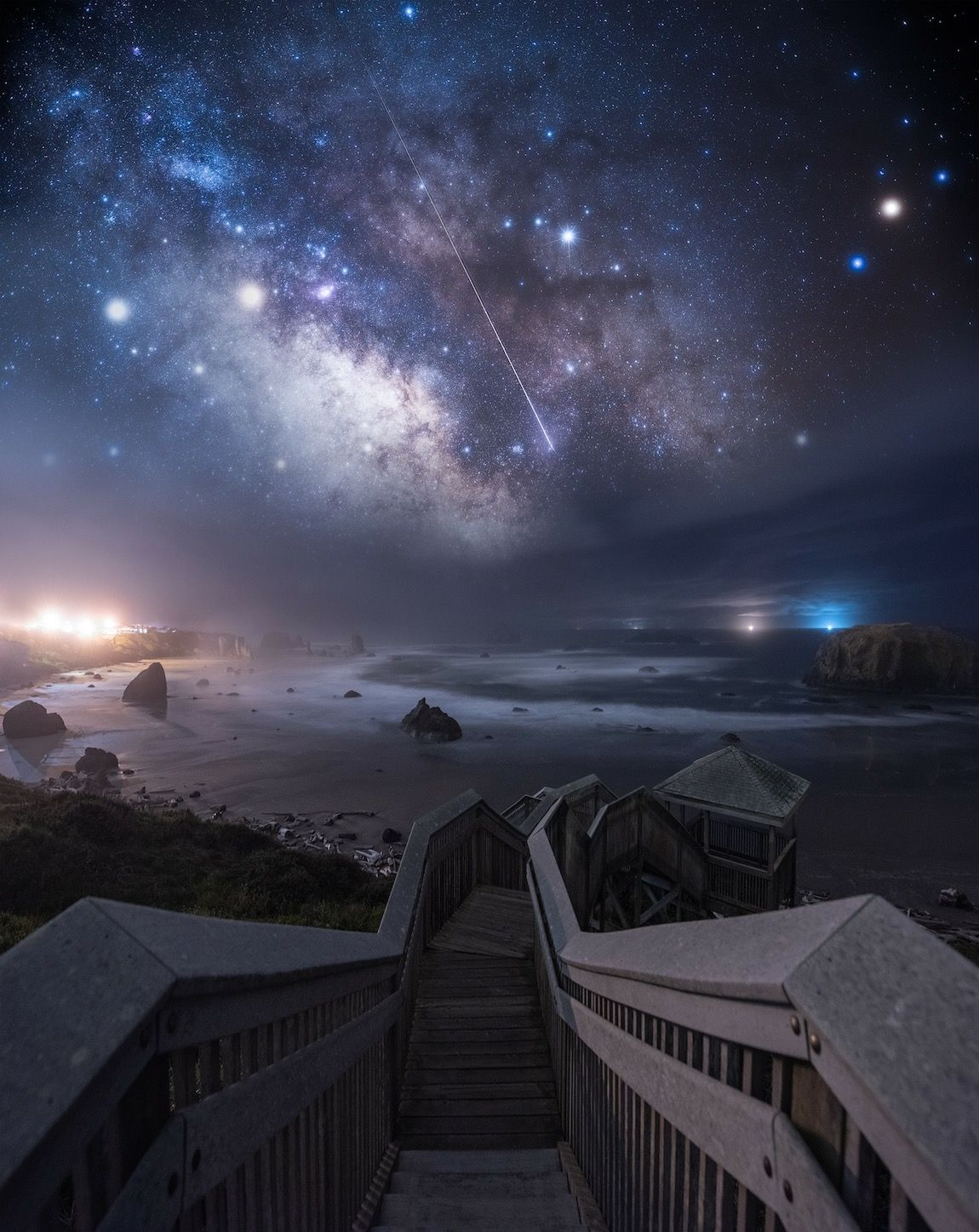 Dreamy Landscapes At Night Inspired By Space Stars And Video Games Dreamy Landscapes Night Landscape Photography Night Landscape