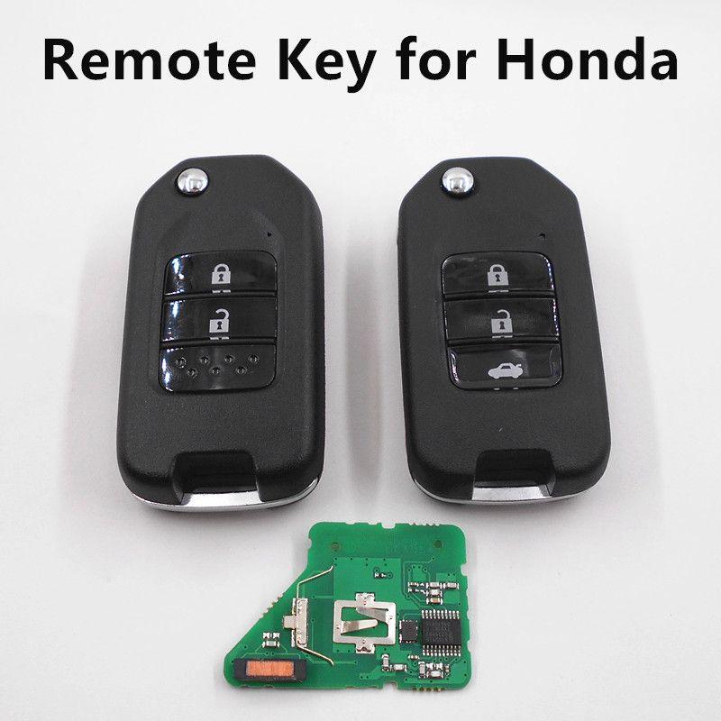 Remote Key 433 Mhz Fit For Honda Fit City Xrv Greaz Car Key Auto