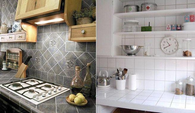 Encimera azulejo buscar con google kitchen pinterest - Encimeras rusticas ...