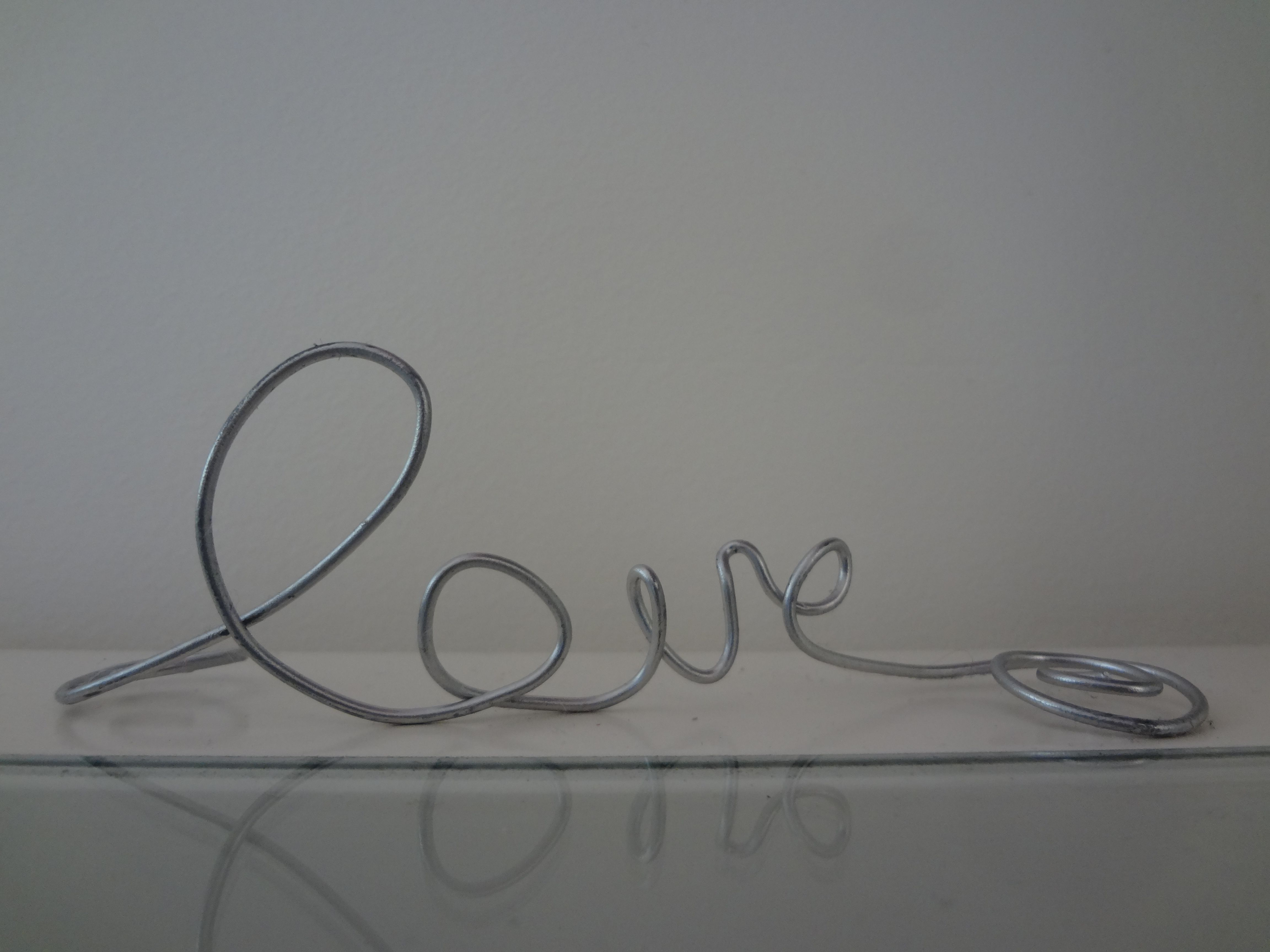 Wired for love, easy to make. Purchase wire from you local hardware ...