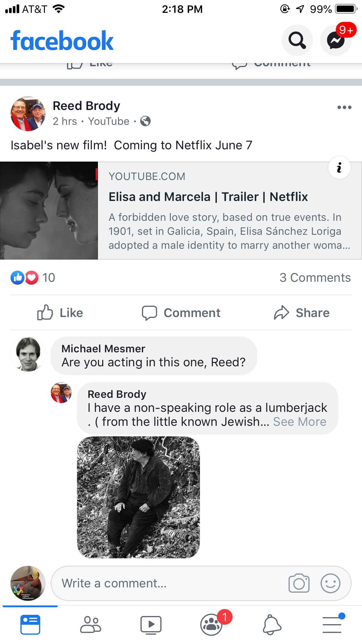 Isabel's film Forbidden love, Netflix, Love story