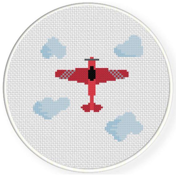 Plane Cross Stitch Pattern | Cross stitch patterns, Baby ...