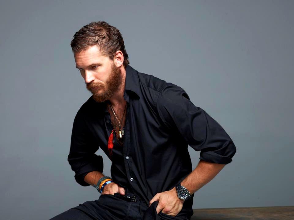 Tom Hardy.  bearded. accessorized.