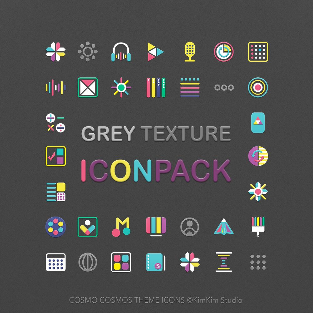 [kimkim] Grey Texture Icon pack SAMSUNG Galaxy Theme Store