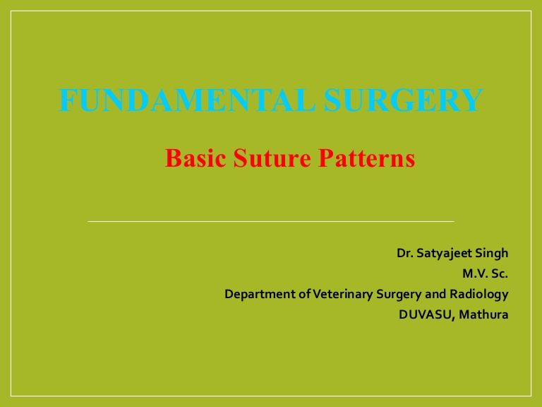 Basic Suture Patterns, Classification, suture patterns, Interrupted