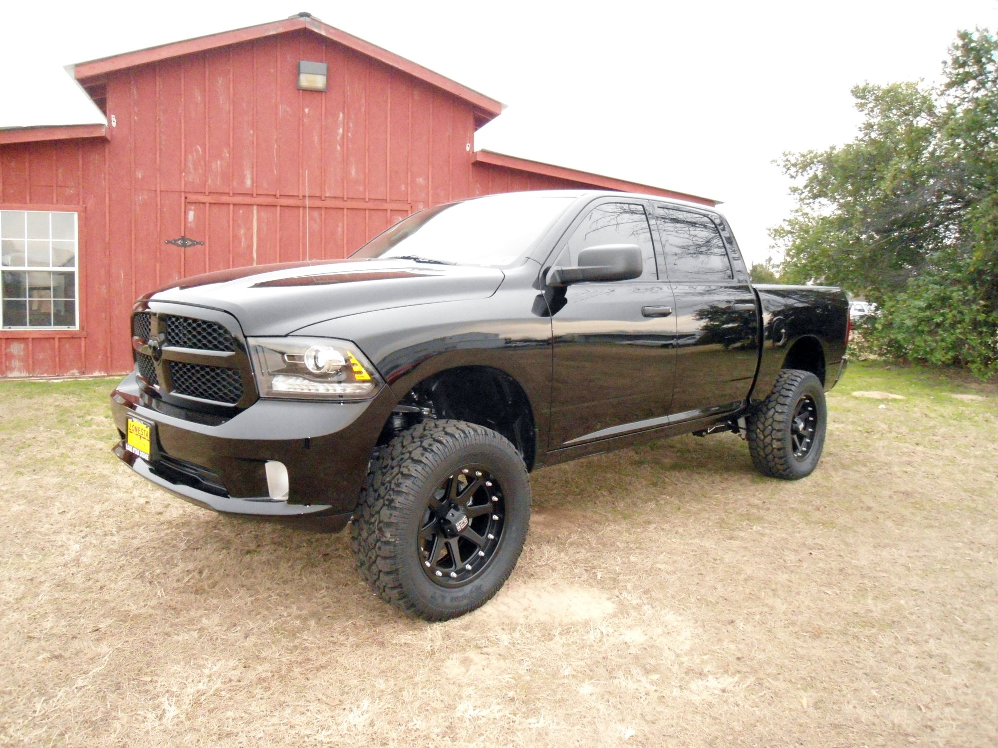 2014 ram black express 4x4 with a 6 inch pro comp lift kit - 2014 Dodge Ram Lifted Black