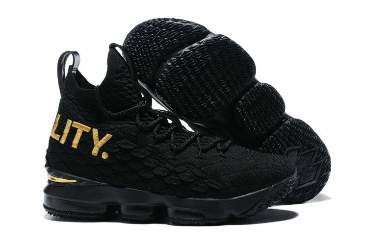 new product 0ba1a 77360 2018 Cheapest Nike LeBron XV EP 15 James Mens Basketball Shoes Coal Black  Metallic Gold