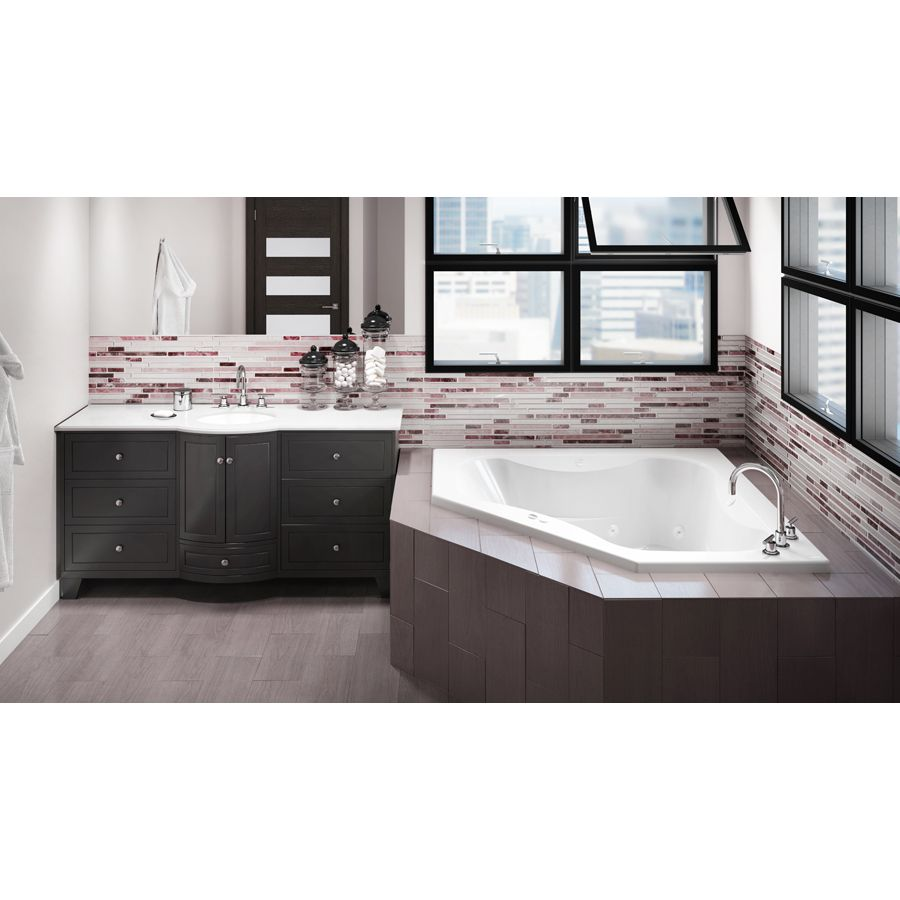 Jacuzzi Primo 60-In Oyster Acrylic Drop-In Whirlpool Tub With Front ...