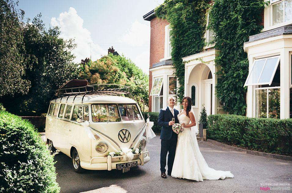 Eleven Didsbury Park, wedding, couple, garden, vw van ...